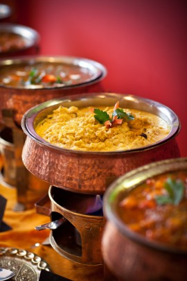 On the first Thursday of the month we serve a vegetarian Currybuffet